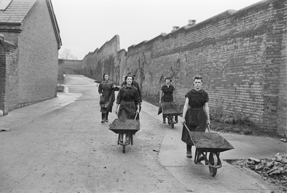 Girls with Pig, Girls' Borstal, London, 1935