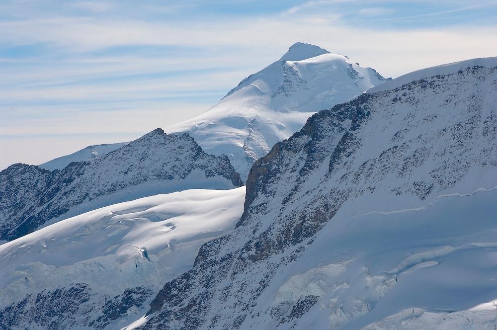 Jungfrau Summit in snow  - Bernese Oberland Alps - Switzerland