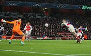 Anderlecht Aleksandar Mitrovic scoring his sides third goal<br /> <br /> - Champions League Group D - Arsenal vs Anderlecht- Emirates Stadium - London - England - 4th November 2014  - Picture David Klein/Sportimage