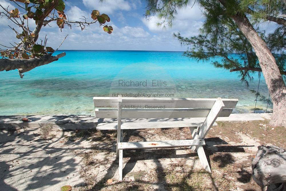 Caribbean coast of Alice Town on the tiny Caribbean island of Bimini, Bahamas.