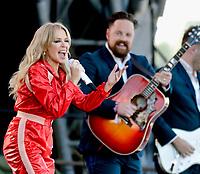 Kylie Minogue at Glastonbury Festival 2019 photo by David Court