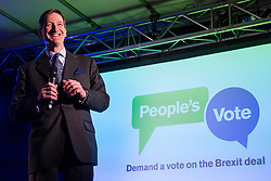 London, UK. 15th January, 2019. Dominic Grieve, Conservative MP for Beaconsfield, addresses pro-EU activists attending a People's Vote rally in Parliament Square as MPs vote in the House of Commons on Prime Minister Theresa May's proposed final Brexit withdrawal agreement.