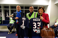 Jean Louis Triaud / Alain Juppe / Arielle Piazza - 23.03.2015 - Visite du Stade de Bordeaux -<br /> Photo : Caroline Blumberg / Icon Sport *** Local Caption ***