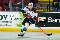 KELOWNA, BC - FEBRUARY 17: Matthew Wedman #20 of the Kelowna Rockets skates with the puck against the Calgary Hitmen at Prospera Place on February 17, 2020 in Kelowna, Canada. Wedman was selected in the 2019 NHL entry draft by the Florida Panthers. (Photo by Marissa Baecker/Shoot the Breeze)