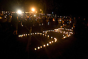 Oct 1, 2015 - Roseburg, Oregon, U.S. - <br /> <br /> A candlelight vigil, held Thursday, October 1, 2015 in Stewart Park, Roseburg, Oregon, for the victims of the mass shooting earlier in the day at Umpqua Community College. <br /> ©Exclusivepix Media