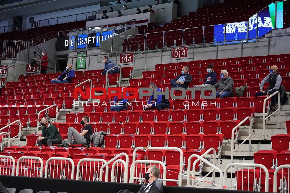 21.11.2020, ISS Dome, Duesseldorf,  GER, 1. HBL. Herren, BHC vs. Fuechse Berlin, <br /><br />im Bild / picture shows: <br />60 Zuschauer zugelassen <br /><br />Foto © nordphoto / Meuter