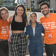 Leila McNeelance,Sarah Story,Swarzy Macaly,Matt Pickersgill at the International Busking Day is returning to Wembley Park on 20 July 2019, London, UK.