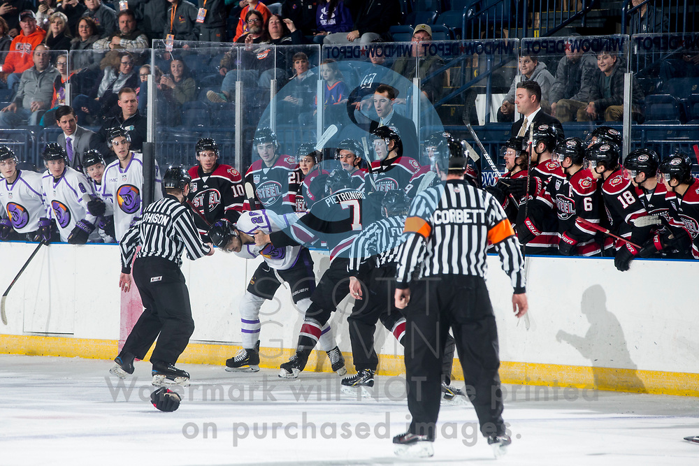 The Youngstown Phantoms lose 7-2 to the Chicago Steel at the Covelli Centre on Saturday, Dec. 15, 2018.<br /> <br /> Josh DeLuca, forward, 26