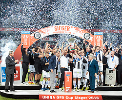 09.05.2018, Woerthersee Stadion, Klagenfurt, AUT, OeFB Uniqa Cup, SK Puntigamer Sturm Graz vs FC Red Bull Salzburg, Finale, im Bild SK Puntigamer Sturm Graz feiert den Titel // during the final match of the ÖFB Uniqa Cup between SK Puntigamer Sturm Graz and FC Red Bull Salzburg at the Woerthersee Stadion in Klagenfurt, Austria on 2018/05/09. EXPA Pictures © 2018, PhotoCredit: EXPA/ Johann Groder