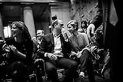 """Angelino Alfano speak with Dorina Bianchi during the official presentation of the new party """"Il Nuovo Centrodestra"""" at the temple of Adriano. Rome, 23 November 2013. Christian Mantuano / OneShot"""