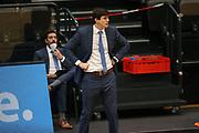 Basketball: Deutschland, 1. Bundesliga, Hamburg Towers - HAKRO Merlins Crailsheim, Hamburg, 10.01.2021<br /> Trainer Pedros Calles (Towers)<br /> © Torsten Helmke