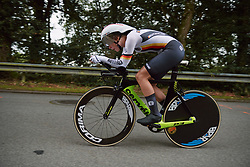 Hannah Buch (GER) at the 2020 UEC Road European Championships - Junior Women ITT, a 25.6 km individual time trial in Plouay, France on August 24, 2020. Photo by Sean Robinson/velofocus.com