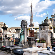 Paris Cemeteries--In Color