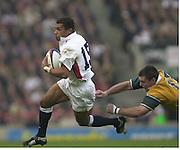 Twickenham, England, Autumn International. RFU Twickenham Stadium<br /> 16/11/2002<br /> International Rugby - England vs Australia.<br /> Jason ROBINSON.         [Mandatory Credit:Peter SPURRIER/Intersport Images]