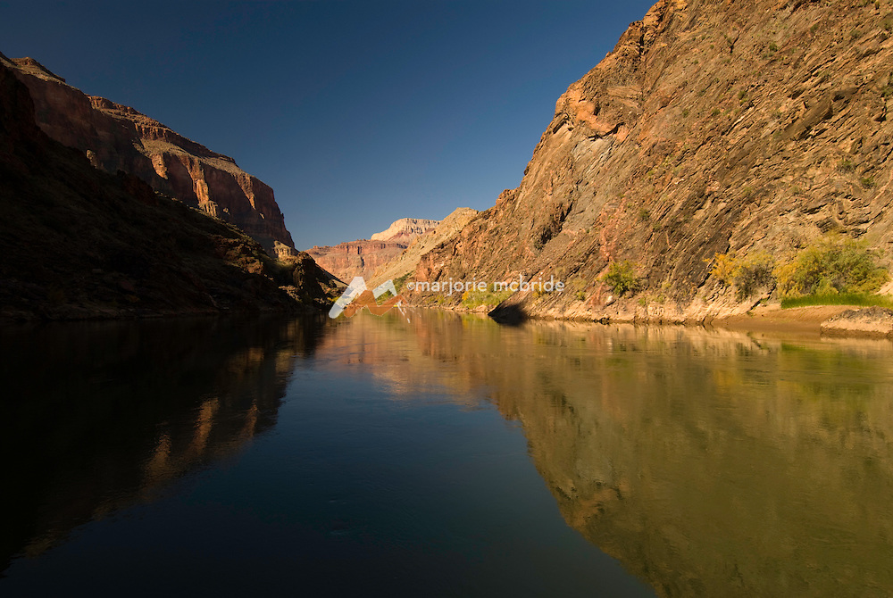 Reflections on the Colorado River in Grand Canyon National Park, Arizona.