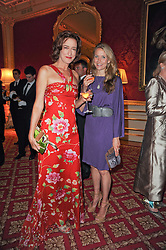 Left to right, HAYDN GWYNNE and Louisa White-Thomson   at a dinner hosted by HRH Prince Robert of Luxembourg in celebration of the 75th anniversary of the acquisition of Chateau Haut-Brion by his great-grandfather Clarence Dillon held at Lancaster House, London on 10th June 2010.