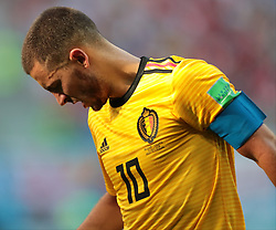July 14, 2018 - Saint Petersburg, U.S. - ST. PETERSBURG, RUSSIA - JULY 14: Forward Eden Hazard of Belgium National team during the third place match between Belgium and England at the FIFA World Cup 2018 at the Saint Petersburg Stadium, Russia, Saturday, July 14, 2018. . (Photo by Anatoliy Medved/Icon Sportswire) (Credit Image: © Anatoliy Medved/Icon SMI via ZUMA Press)