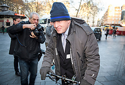 © Licensed to London News Pictures. 14/01/2019. London, UK. Brexit campaigner BORIS JOHNSON leaves the studios of LBC radio in London after a phone in radio show. Photo credit: Ben Cawthra/LNP