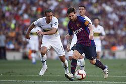August 15, 2018 - Barcelona, Catalonia, Spain - August 15, 2018 - Camp Nou, Barcelona, Spain - Trofeu Joan Gamper FC Barcelona v Boca Juniors; Leo Messi of FC Barcelona controls the ball. (Credit Image: © Marc Dominguez via ZUMA Wire)