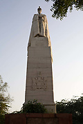 The statue of King George V at the Coronation Durbar site near Delhi, India. This and other statues were removed from New Delhi in the 1960's. The statue of George V originally stood under the canopy of India
