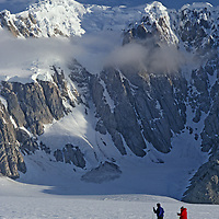 ANTARCTICA. Guided, fly-in expedition members cross country ski near Jones Sound on Antarctic Peninsula, during first-ever tour of its kind.