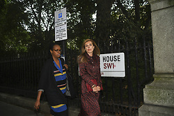June 12, 2019 - London, United Kingdom - Boris Johnson's Carrie Symonds leaves the Academy of Engineering after  attending Boris Johnson's Conservative Party leadership campaign Launch on June 12, 2019 in London, England. (Credit Image: © Alberto Pezzali/NurPhoto via ZUMA Press)