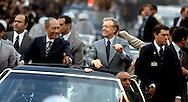president Jimmy Carter visits Anwar Sadat in Egypt.Parade in Alexandria, Egypt..Photo by Dennis Brack  C B