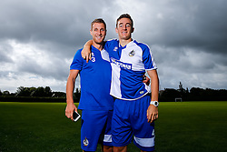 Lee Brown and Tom Lockyer of Bristol Rovers pose during a portrait session ahead of the 2015/16 Sky Bet League Two campaign - Mandatory byline: Rogan Thomson/JMP - 07966 386802 - 03/08/2015 - FOOTBALL - The Lawns Training Ground - Bristol, England - Sky Bet League Two.