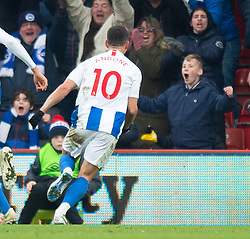 Brighton & Hove Albion's Florin Andone celebrates scoring his side's third goal of the game