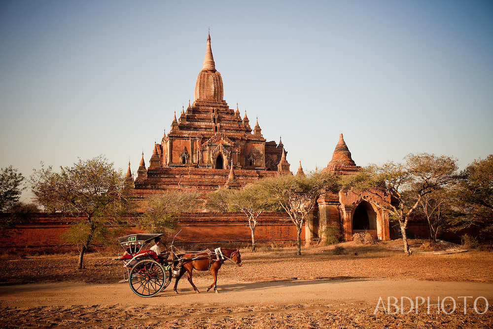 Bagan ancient city Kingdom of Pagan temples and pagodas Burma (Myanmar)