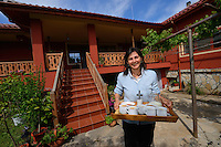 Bed and breakfast hotel owner Betty, Wild Farm in Madzharovo valley, Eastern Rhodope mountains, Bulgaria