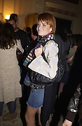 Patsy Palmer. Juicy Couture party, Home House. 23 October 2002. © Copyright Photograph by Dafydd Jones 66 Stockwell Park Rd. London SW9 0DA Tel 020 7733 0108 www.dafjones.com