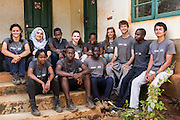 The team of volunteers wait for a community meeting as part of the ICS Raleigh SWASH (school water, sanitation and hygiene plan) project. Mbulu, Manyara district, Tanzania. Working in partnership with the Diocese of Mbulu Development Department (DMDD); part of Caritas Tanzania.