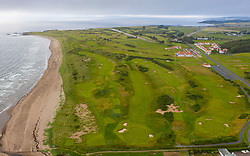 Turnberry, Scotland, UK. 15 July, 2020. General aerial views of Trump Turnberry Golf Club and Hotel on the Ayrshire coast. Trump Turnberry is planning to expand the resort by building hundreds of luxury private homes, apartments and retirement villas and transforming the area into an exclusive retirement golf resort. Iain Masterton/Alamy Live News