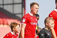 Cauley Woodrow of Barnsley (9) walks out onto the pitch during the EFL Sky Bet League 1 match between Barnsley and Shrewsbury Town at Oakwell, Barnsley, England on 19 April 2019.