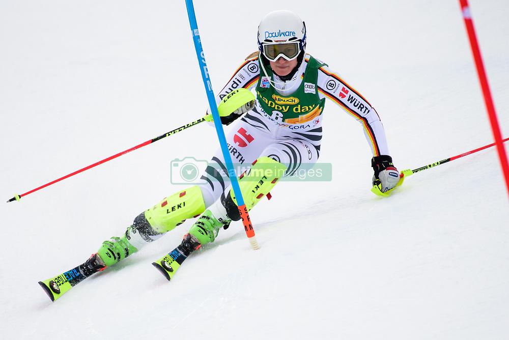 January 7, 2018 - Kranjska Gora, Gorenjska, Slovenia - Lena Duerr of Germany competes on course during the Slalom race at the 54th Golden Fox FIS World Cup in Kranjska Gora, Slovenia on January 7, 2018. (Credit Image: © Rok Rakun/Pacific Press via ZUMA Wire)