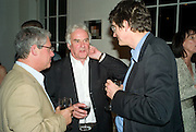 CAMERON MACKINTOSH, RICHARD EYRE AND ALAN RUSBRIDGER , These Foolish Things, charity evening hosted by Sir Richard and Lady Rogers. Chelsea. London. 7 May 2008.  *** Local Caption *** -DO NOT ARCHIVE-© Copyright Photograph by Dafydd Jones. 248 Clapham Rd. London SW9 0PZ. Tel 0207 820 0771. www.dafjones.com.