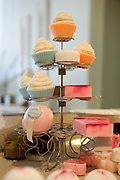 A variety of Alexis Clare's products for her online business, Whipped Up Wonderful, sits on a stand at her home in Dallas, Texas, on January 31, 2013.  Clare's products include Cupcake soaps, bar soap, and Bath Bombs (from top to bottom).  (Stan Olszewski/The Dallas Morning News)
