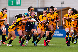 Taz Bricknell of Worcester Warriors Women carries hard - Mandatory by-line: Nick Browning/JMP - 24/10/2020 - RUGBY - Sixways Stadium - Worcester, England - Worcester Warriors Women v Wasps FC Ladies - Allianz Premier 15s