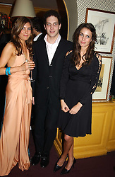 Left to right, AMANDA SHEPPARD, LORD FREDERICK WINDSOR and MARINA HANBURY at a private dinner and presentation of Issa's Autumn-Winter 2005-2006 collection held at Annabel's, 44 Berkeley Square, London on 15th March 2005.<br /><br />NON EXCLUSIVE - WORLD RIGHTS