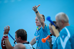 Fans of Krim during handball match between RK Zagorje and RK Krim Mercator of Super Cup 2016, on August 27, 2016 in SRC Marina, Portoroz / Portorose, Slovenia. Photo by Matic Klansek Velej / Sportida