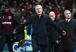 "Stoke City manager Mark Hughes walks out for the second half during the Premier League match at the bet365 Stadium, Stoke. PRESS ASSOCIATION Photo. Picture date: Saturday December 16, 2017. See PA story SOCCER Stoke. Photo credit should read: Mike Egerton/PA Wire. RESTRICTIONS: EDITORIAL USE ONLY No use with unauthorised audio, video, data, fixture lists, club/league logos or ""live"" services. Online in-match use limited to 75 images, no video emulation. No use in betting, games or single club/league/player publications."