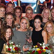 NLD/Amsterdam/20121218 - NOC/NSF Sportgala 2012, Sportploeg van het jaar, Nederlands damesteam hockey