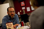 """Rabbi and Community Service Coordinator Howie Stein speaks about his faith in Lyle's Pub as a part of Thursday afternoon's Snack & Chat entitled """"What's It Like To Be Me..."""""""