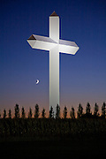 The Cross at the Crossroads in Effingham, Illinois. The cross is 198 feet tall, and stands at the intersection of Highway 57 and 70.