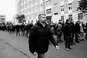 Simone Di Stefano. Italian fascist party CasaPound activists take part in the parade commemorating the 40th anniversary of the massacre of Acca Larentia, where three MSI activist were killed, on January 07, 2018 in Rome. Christian Mantuano / OneShot<br /> <br /> Simone Di Stefano. Commemorazione per i 40 anni dalla strage di Acca Larentia, dove vennero uccisi dei militanti del Fronte della Gioventù davanti la sede del Movimento Sociale Italiano, Roma 07 Gennaio 2018. Christian Mantuano / OneShot