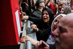 June 1, 2017 - °Stanbul, Turkey - Relatives of Turkish soldier Nuri Sener who was killed in a helicopter crash in Sirnak, on 31 May 2017, mourn over his coffin during a funeral ceremony in Istanbul, Turkey, 01 June 2017. At least 13 soldiers were reported killed in the helicopter crash in Sirnak city. (Credit Image: © Can Erok/Depo Photos via ZUMA Wire)