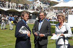 Left to right, CHARLES GORDON-WATSON and Trainer LUCA CUMANI at the 4th day of the Glorious Goodwood racing festival 2007 held at Goodwood Racecourse, West Sussex on 3rd August 2007.<br />