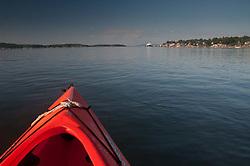 Kayaking Home, Castine, Maine, US