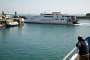Condor Ferries fast ferry boat, St Peter Port, Guernsey, Channel Islands, UK